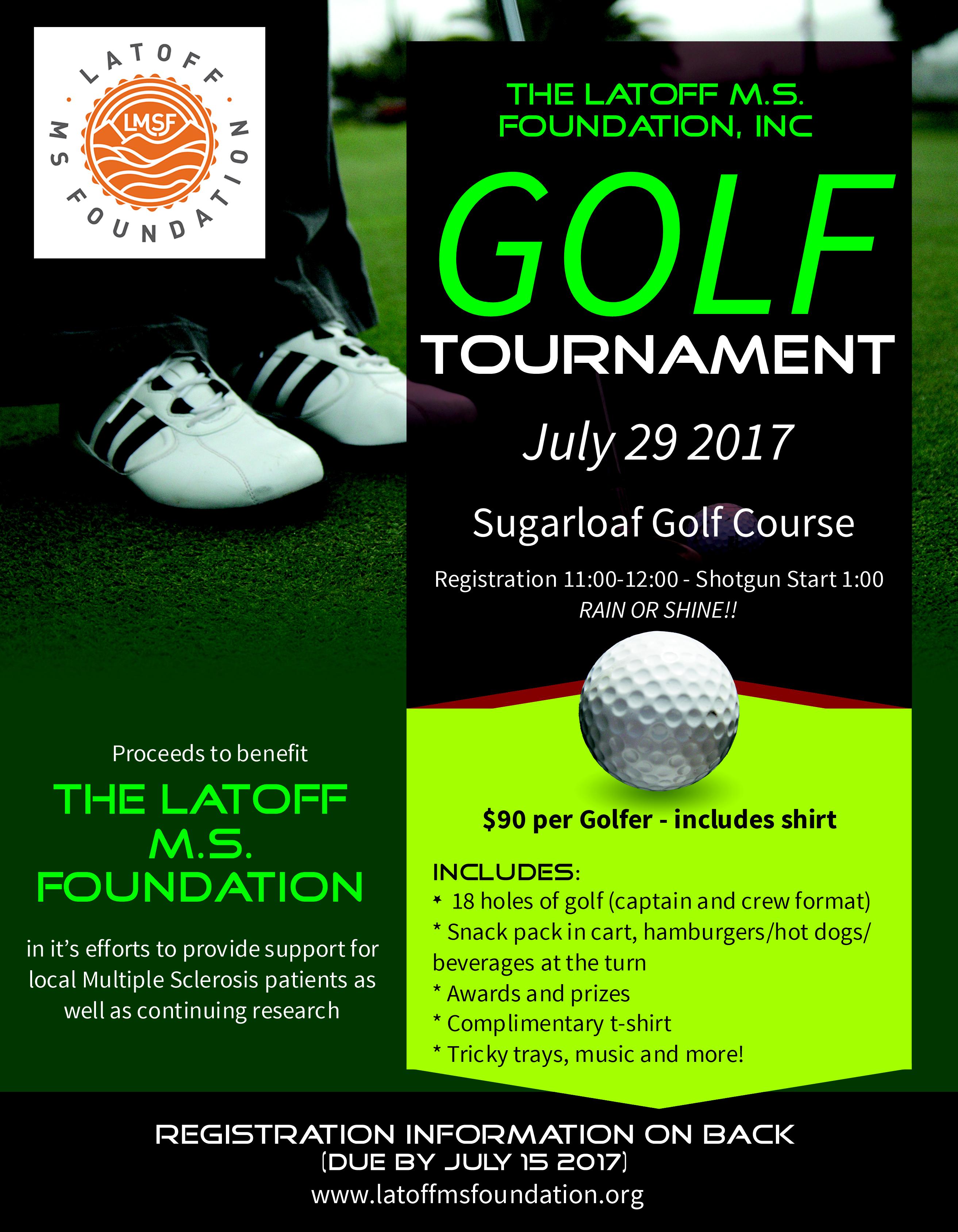 2017 Latoff MS Foundation Golf Tournament Flyer